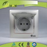 CE/TUV/CB Certified Европейский стандарт красочные токопроводящей дорожки 1 Дуэт с гнезда Schuko ЧЕРНОГО ЦВЕТА