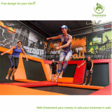 Gimnasia feliz del deporte del trampolín de la aptitud, parque de los aeróbicos del trampolín para la venta