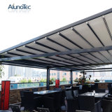 Dossel flexível elétrico Rainproof do toldo da tela do PVC para o jardim