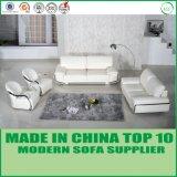ステンレス鋼のArmrestのフォーシャンの現代的な家具の部門別の革ソファー