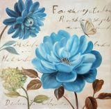 Pittura a olio della tela di canapa del fiore del Peony stampata mano della decorazione della parete