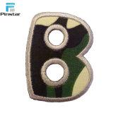 Carta de camuflagem personalizado patches para o vestuário