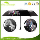 Bestes Qualitätsschwarz-Metallwindundurchlässiger manueller gefalteter Regenschirm