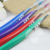 Cepillo de dientes transparente del hotel del color doble