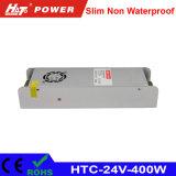 fonte de alimentação HTC do interruptor do transformador AC/DC do diodo emissor de luz de 24V 16A 400W