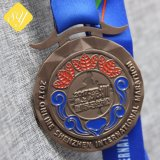 Цинкового сплава с покрытием Блестящие цветные лаки честь расы спортивные медали разработке нестандартного