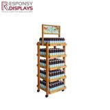 店のフルーツジュースは清涼飲料ディスペンサーの表示棚を機械で造る