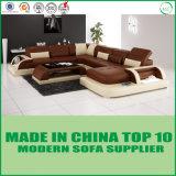 Insieme classico del sofà del cuoio genuino dello schienale registrabile tradizionale