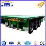 Tri Transport-Lastwagen-Flachbettbehälter-LKW-halb Schlussteil der Wellen-45t