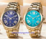 한 쌍 (WY-17005E)를 위한 주문 로고 스위스 석영 시계 형식 손목 시계