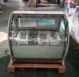 Showcase de vidro do congelador da porta do refrigerador do contador do gelado (F-G550-W)