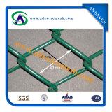 O PVC revestiu, eletro galvanizado e Quente-Mergulhou a cerca galvanizada da ligação Chain