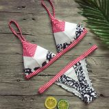 Form-reizvolles Drucken passt Bikini-gesetzte Badeanzug-Strand-Klagen an