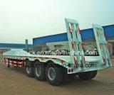 60トンは3つの車軸低いベッドのトレーラーを半増強した