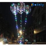 18 인치 LED 가벼운 명확한 크리스마스 Bobo 풍선 빛을내는 풍선