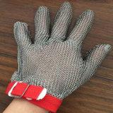 反切口の金網のステンレス鋼の働く安全手袋
