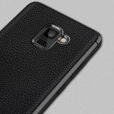 Мобильный телефон модели Lichi силиконовый чехол из натуральной кожи для Samsung Galaxy A8 кожаный чехол TPU чехол для Samsung Galaxy A8 плюс