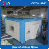 6*6*3.6mh商業PVC膨脹可能なイグルーのテント、イベントのための膨脹可能なドームのテント、屋外のイベントの玄関ひさしのテント