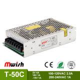 Hersteller Großhandelsc$dreifach-ausgabe SMPS Stromversorgung T-50c für industrielle Geräte