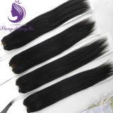 #1b Virgin Remy Silky Straight Human Hair Weft