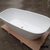 Bañeras de piedra artificiales blancas puras superficiales sólidas