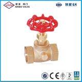Válvula de paragem de compressão de latão com resíduos de drenagem