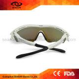 Vidros de Sun elevados UV dos homens da visão do revestimento azul de Dropshipping da fábrica anti que dão um ciclo óculos de sol do esporte
