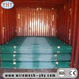 緑のビニールはパネルを囲う機密保護によって溶接された鉄の金網に塗った