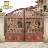 Fabricado en China la puerta al patio con jardín de aluminio