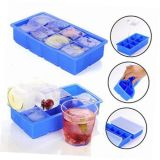 Cubos de gelo Large-Ice Cube-Trays Trays-Silicone-de-com 2 tampas-2-Pack-8 Molde