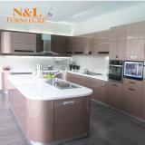 N&Lの光沢度の高いラッカーMDFの現代食器棚