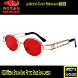 9008 óculos de sol retros ovais do estilo do vapor do metal