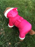 Vestiti caldi della tuta del panno morbido per l'animale domestico del cane