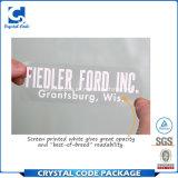 Crear la escritura de la etiqueta clara brillante impermeable de la etiqueta engomada para requisitos particulares