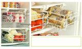 Tipo de múltiples funciones estante retractable del cajón del almacenaje del refrigerador del metal de la percha