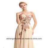 Vestito da cerimonia nuziale Sleeveless convenzionale elegante posteriore Lace-up del vestito da partito