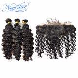 Оптовые Unprocessed бразильские глубокие пачки & Frontal человеческих волос девственницы волны