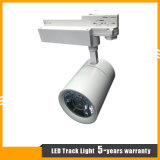 lámpara negra/blanca de 30W de la cubierta del CREE de la MAZORCA LED del punto de la pista