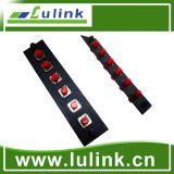 Panel de adaptador de fibra óptica FC 6 Puertos Simplex adaptador SM