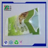 Sacchetto di plastica dell'alimento per animali domestici del rinforzo inferiore risigillabile superiore
