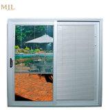Populärer Art-bester Verkaufs-schiebendes Aluminiumfenster mit Vorhängen