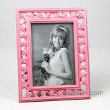 Frame novo da foto da resina da folha da cor-de-rosa da forma da simplicidade
