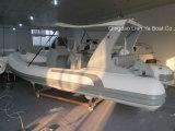 Liya 5,2m de casco de fibra de vidrio costilla inflable barco de pesca