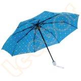 عامة جذّابة قابل للانكماش مطر 3 مظلة [فولدبل]