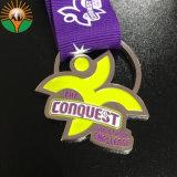 De Metal personalizados de alta calidad Soft enamel premio medalla con cinta de opciones