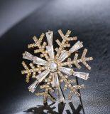 مجوهرات صاحب مصنع لؤلؤة قشرة قذيفة لمس تكعيبيّ زركون 925 فضة نمو دبوس الزينة مجوهرات