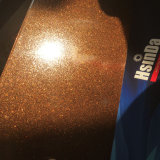 Capa consolidada del polvo del efecto metálico de Brown de los muebles del metal