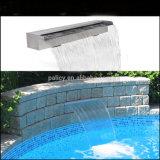 Cascades à écriture ligne par ligne extérieures d'éclairage LED de piscine de l'acier inoxydable IP68 de la marge haute 304 sautant la fontaine d'eau de cascade à écriture ligne par ligne de gicleurs