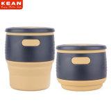 Douane van de Kop van de Koffie van de Prijs van de fabriek de Milieuvriendelijke Vouwbare Opnieuw te gebruiken, Draagbare Kop met Deksel
