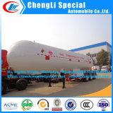新しい状態49.6m3の液化石油ガスのタンカーの半トレーラー21tonのプロパンの半トレーラーLPGの輸送の半トレーラー3axles LPGのトレーラーのPpropaneタンクトレーラー